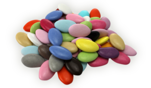 pastillas dulces de colores